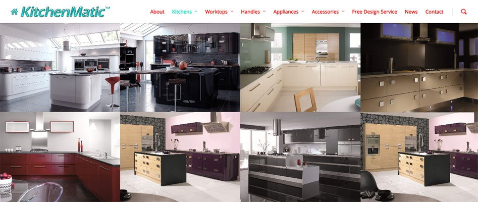 Website For A Kitchens, Appliances & Accessories Supplier