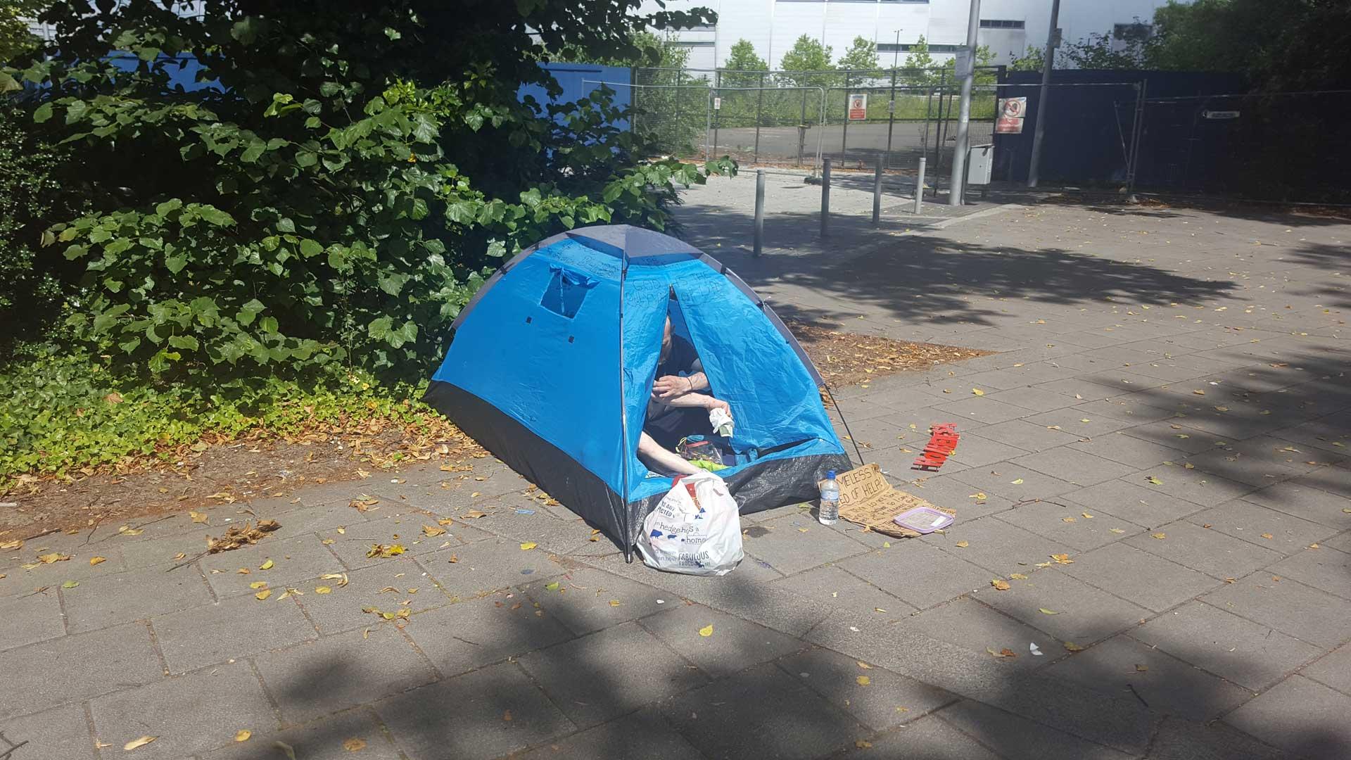 Trevor In His Tent
