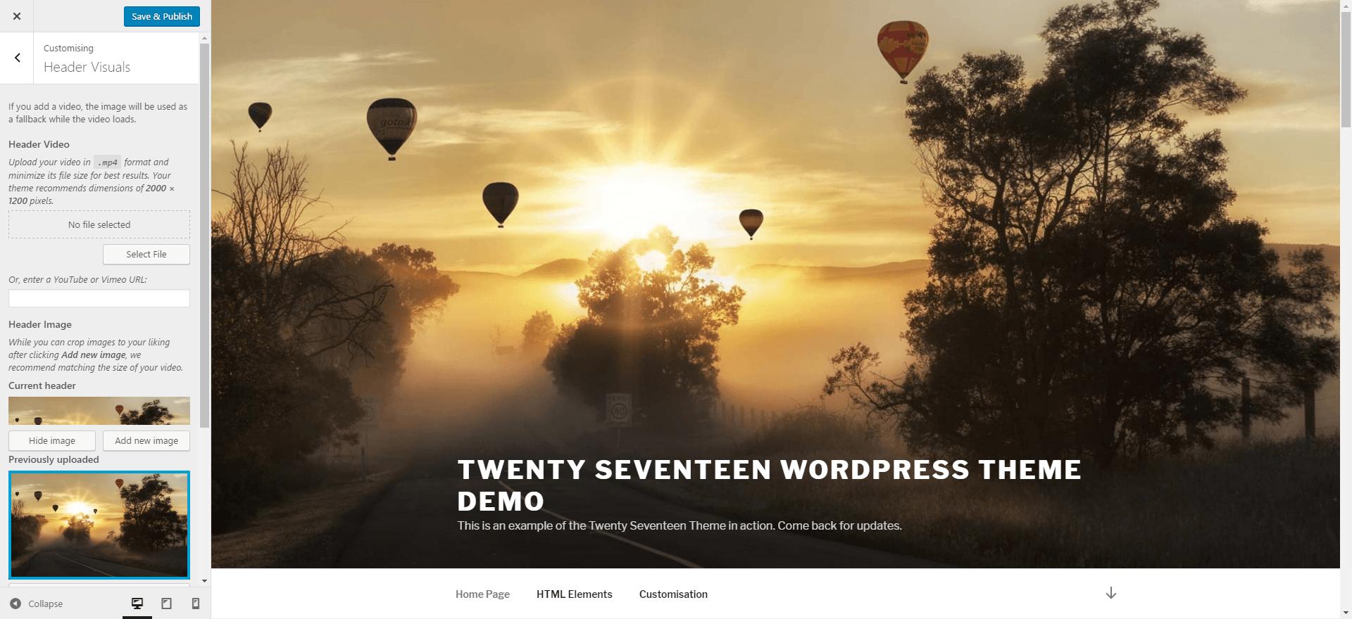 Twenty Seventeen Custom Header Image